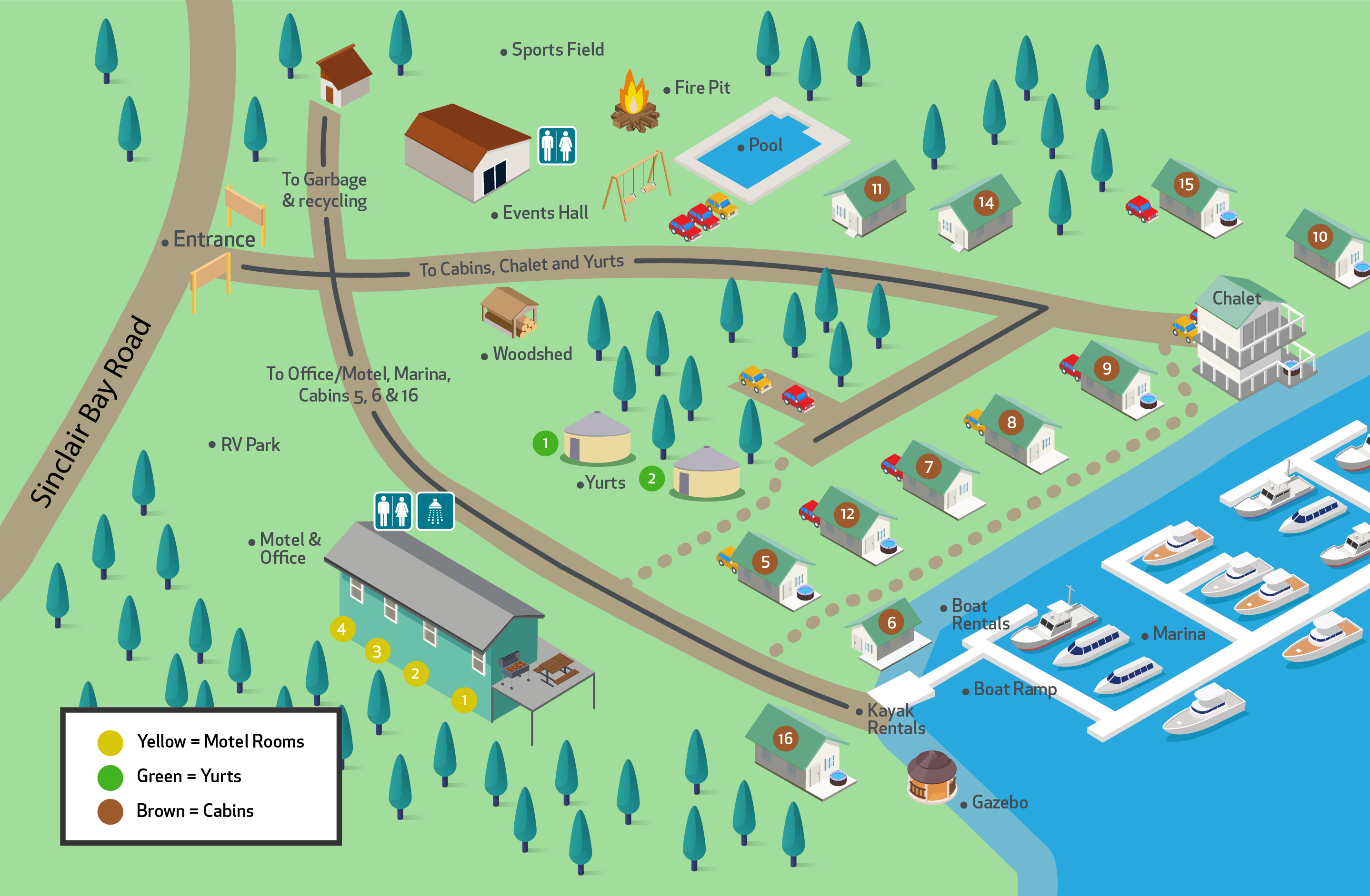 Pender Harbour Resort map